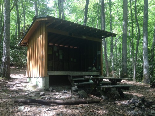 You can spend the night in shelters along the Appalachian Trail.